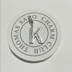 "Thomas Sabo letter ""K"" charm"